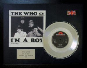 Who, The: Framed Discs - Silver Single - I'm a Boy