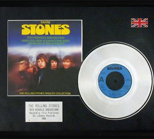 Rolling Stones, The: Framed Discs - Silver Single - 19th Nervous Breakdown