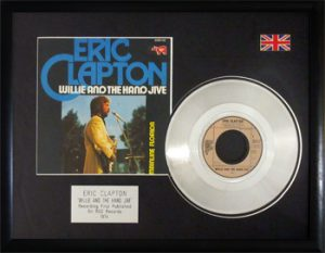 Eric Clapton: Framed Discs - Silver Single - Willie and the Hand Jive
