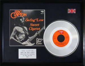 Eric Clapton: Framed Discs - Silver Single - Swing Low Sweet Chariot
