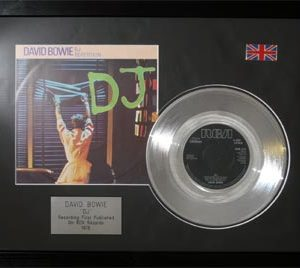 David Bowie: Framed Discs - Silver Single - DJ