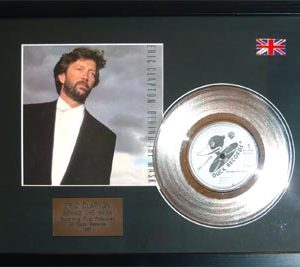 Eric Clapton: Framed Discs - Silver Single - Behind the Mask