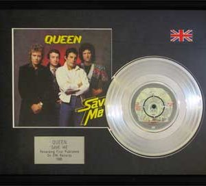 Queen: Framed Discs - Silver Single - Save Me