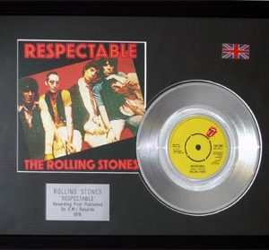 Rolling Stones, The: Framed Discs - Silver Single - Respectable