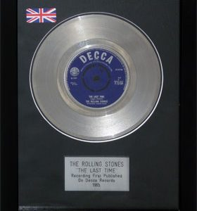 Rolling Stones, The: Framed Discs - Silver Single - The Last time (no sleeve)