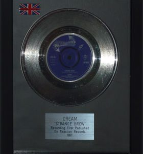 Cream: Framed Discs - Silver Single - Strange Brew (no sleeve)