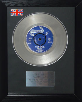 Who, The: Framed Discs - Silver Single - Happy Jack (no sleeve)