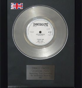 Small Faces: Framed Discs - Silver Single - Itchycoo Park (no sleeve)