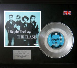 Clash, The: Framed Discs - Silver Single - I Tought the Law