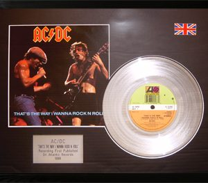 AC/DC: Framed Discs - Silver Single - That's The Way I Wanna Rock 'n' Roll
