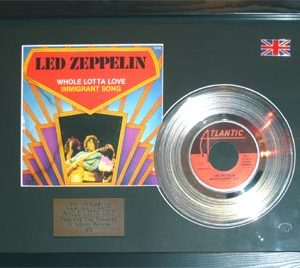 Led Zeppelin: Framed Discs - Silver Single - Immigrant Song