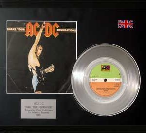 AC/DC: Framed Discs - Silver Single - Shake Your Foundation