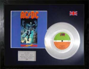 AC/DC: Framed Discs - Silver Single - Who Made Who