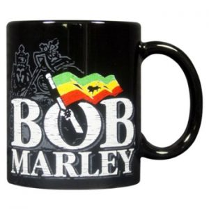 Bob Marley: Mug - Distressed Logo