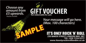 01: It's Only Rock 'n' Roll ?5 Gift Voucher